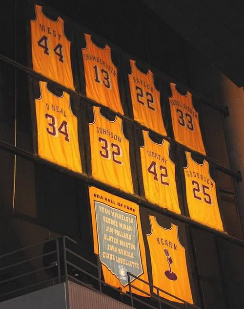 بسکتبال ان بی ای-شماره های بازنشسته لیکرز