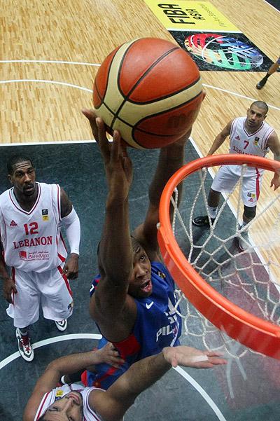 بسکتبال کاپ آسیا-مسابقه فیلیپین و لبنان