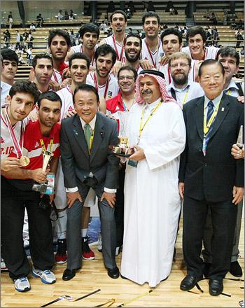بسکتبال کاپ آسیا-اهدای جام قهرمانی به ایران