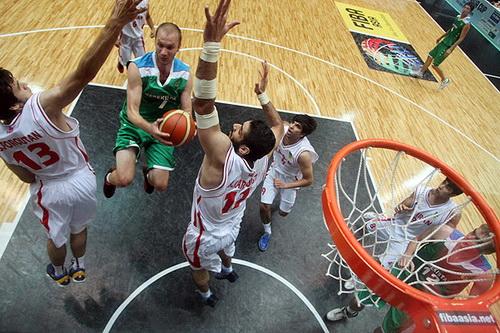 بسکتبال کاپ آسیا-مسابقه ایران و ازبکستان