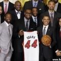 دیدار میامی هیت با باراک اوباما در کاخ سفید