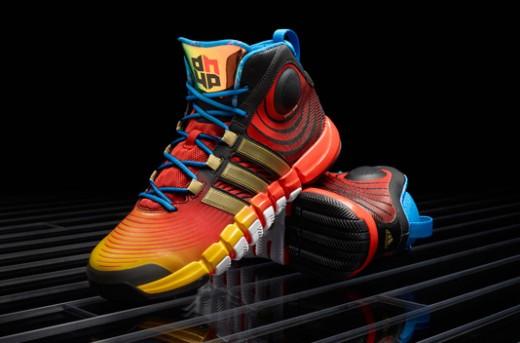 کفش بسکتبال آدیداس D Howard 4 مدل زرد-طلایی-آبی