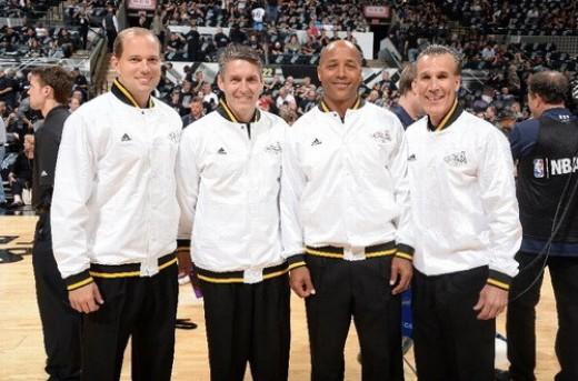 داوران بسکتبال NBA در مسابقه اول فینال 2014