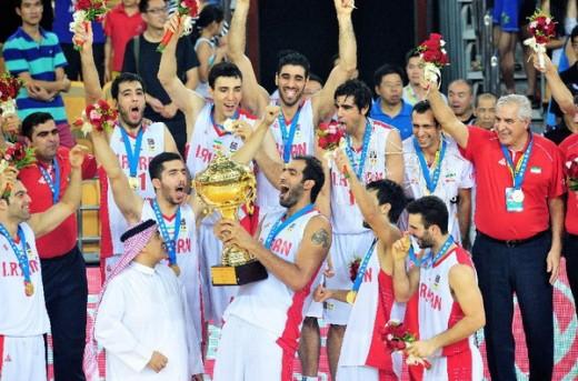 ایران قهرمان بسکتبال کاپ آسیا در سال 2014
