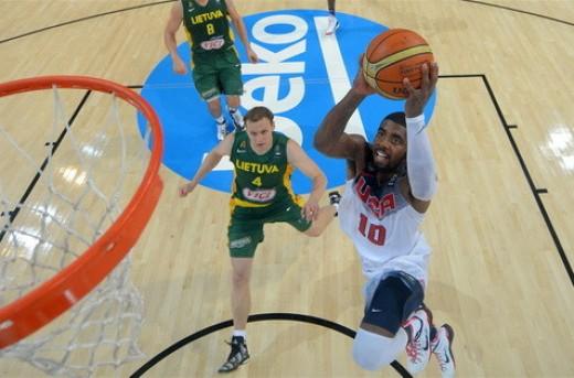 پیروزی تیم بسکتبال امریکا مقابل لیتوانی در نیمه نهایی جام جهانی اسپانیا