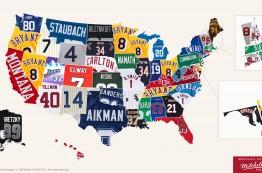 پرفروش ترین پیراهن های ورزشی قدیمی در ایالت های مختلف امریکا