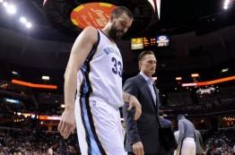 شکستگی پای راست مارک گاسل و دوری از بسکتبال به مدت نامعلوم