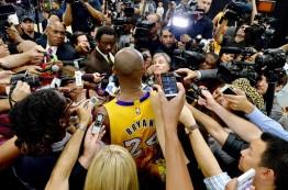 هجوم رسانه ها برای پوشش آخرین بازی کوبی برایانت در NBA