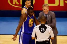 لیگ NBA دریماند گرین را برای لگد زدن به استیون آدامز محروم نکرد