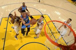 پیروزی تاندر در اولین بازی فینال کنفرانس غرب NBA در سال 2016